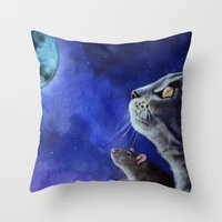 friendship Throw Pillows featuring Friendship by Mihai Paraschiv