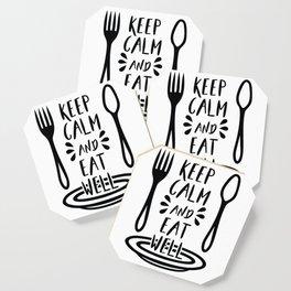 keep calm eat well Coaster