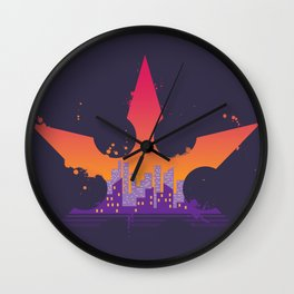 Deadly Sunrise Wall Clock