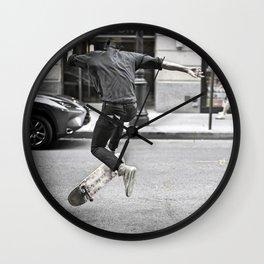Mid-Air Skater Wall Clock