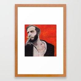 Bon Iver Charcoal Framed Art Print