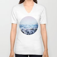 surf V-neck T-shirts featuring Surf by Leah Flores