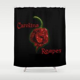 A Carolina Reaper Chili Pepper Shower Curtain