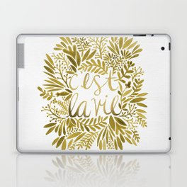 That's Life – Gold on Gold Laptop & iPad Skin
