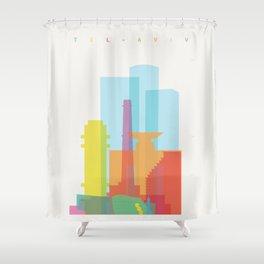 Shapes of Tel Aviv Shower Curtain