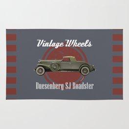 Vintage Wheels: Duesenberg SJ Roadster Rug