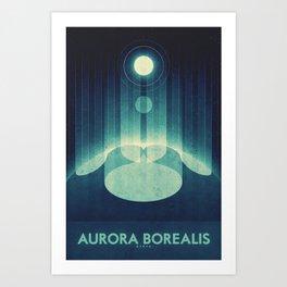 Earth - Aurora Borealis Art Print