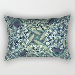 Green Plant Corner Rectangular Pillow