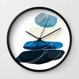 Pebbles & wire Wall Clock