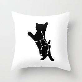 virgo cat Throw Pillow