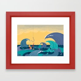 """""""Read the Lost Dream Journal... Drowning"""" by Federica Bordoni for Nautilus Framed Art Print"""
