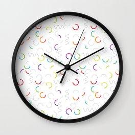 Funny color design. Arcs and Lines #3 Wall Clock