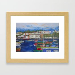 Bristol Marina in Late Afternoon Framed Art Print