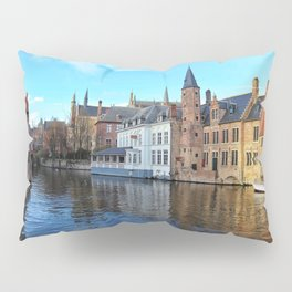 Belgium, City Canal 2 Pillow Sham