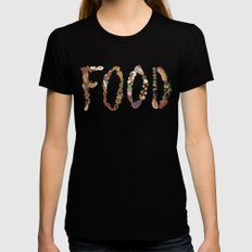 FOOD SMALL Womens Fitted Tee Black