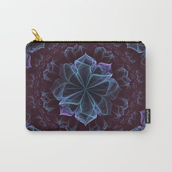 Ornate Blossom in Cool Blues Carry-All Pouch