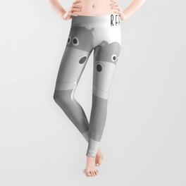 Best Hippo Couple - You are the best thing thats ever been mine - Happy Valentines Day Leggings