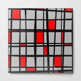 Gridlock - Abstract Metal Print