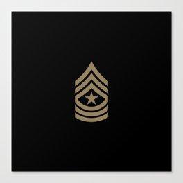 Sergeant Major (Brown) Canvas Print