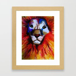 Circus Lion Framed Art Print