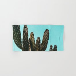 Cactus Photography Print {1 of 3} | Teal Succulent Plant Nature Western Desert Plants  Design Decor Hand & Bath Towel