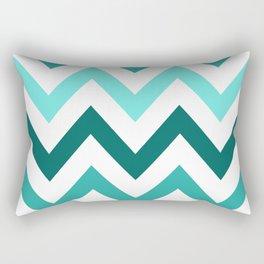 TRI-TONE TEAL CHEVRON Rectangular Pillow