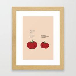 Tomato Desserts Framed Art Print