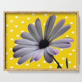 Collage de Flor y diseño Serving Tray