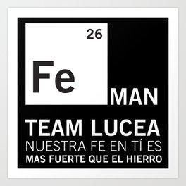 FeMan Team Lucea Art Print