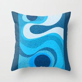 Blue Shag: A Wall Rug Design Throw Pillow