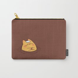 Coffee Tea Onsen Cat Carry-All Pouch