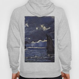 Claude Monet - A Seascape, Shipping By Moonlight Hoody