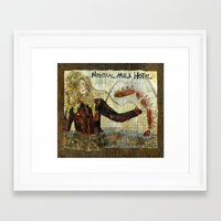 neutral milk hotel Framed Art Prints featuring Neutral Milk Hotel by CHAR ODEN
