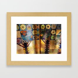 Venice venezia biennale detail Italy photo photography digital floral gold colors Framed Art Print