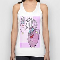ursula Tank Tops featuring Ursula by grapeloverarts