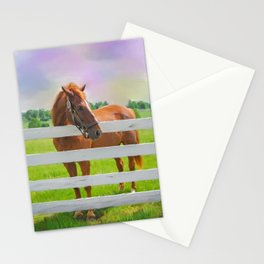 Horse Painting Stationery Cards