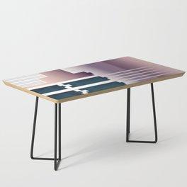 Minimalist Gradient Geometric Interlocking Abstract Structures #buyart #homedecor Coffee Table