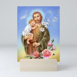Saint Joseph and Jesus Mini Art Print