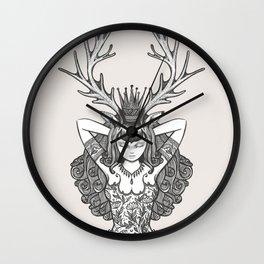 My Deer Girl Wall Clock