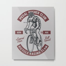 Pedal Runner Metal Print