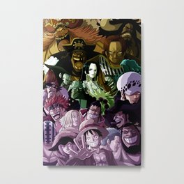 Yonko , warlords , supernovas - One piece Metal Print