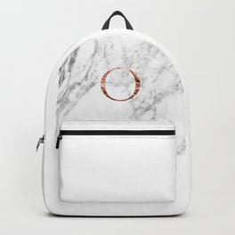 Monogram rose gold marble O Backpack