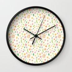 Colourful Daisies Wall Clock