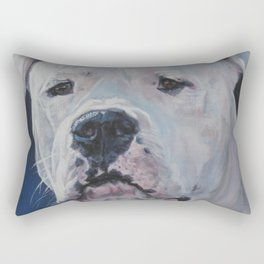 The Dogo Argentino dog art portrait from an original painting by L.A.Shepard Rectangular Pillow