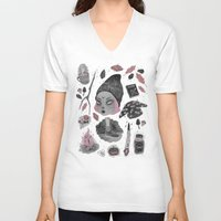 loll3 V-neck T-shirts featuring Magical ϟ Autumn by lOll3