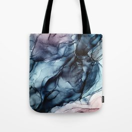 Blush and Darkness Abstract Paintings Tote Bag