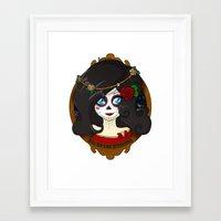 dia de los muertos Framed Art Prints featuring Dia de Los Muertos by Lilolilosa