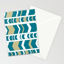 Aztec Teal Stationery Cards