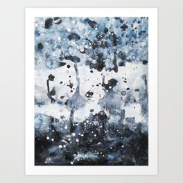 indigo: abstract painting Art Print