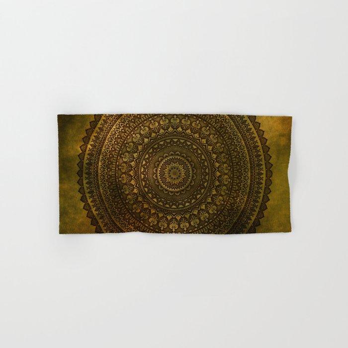 Lime Brown Mandala Hand & Bath Towel